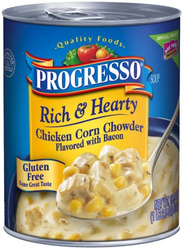 Progresso Soup 6pack Rich & Hearty Chicken Corn Chowder (Flavored with Bacon) (Progresso Chicken Corn Chowder compare prices)