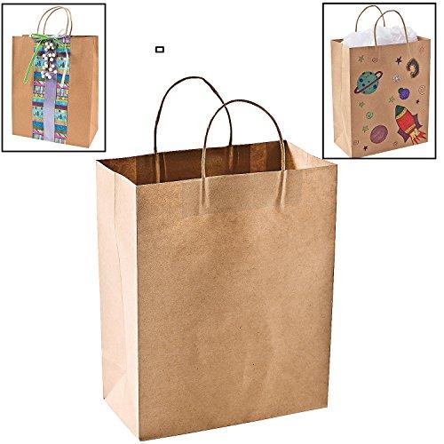 12ct 1 dozen large biodegradable kraft craft favor for Craft paper gift bags