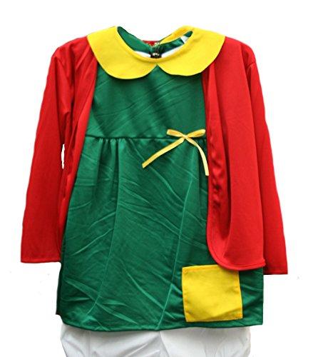 [Chilindrina Girls' Costume (Size 5-6)] (Chilindrina Costumes)