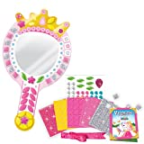 Orb Factory Sticky Mosaics Craft Kit - Real Princess Sparkling Double Sided Mirror - Pre School Fun Sticky Mosaic For Kids 3+