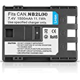 NEEWER® Digital Camera & Camcorder Lithium-Ion Rechargeable Battery Replacement for Canon NB-2LH Battery Pack, Compatible with Canon DC310, DC320, DC330, DC410, DC420, Elura 40 MC, 45, 50, 60, 65, 70, 80, 85, 90, EOS 300D 350D, Rebel XT Xti, MV-Series MV5, MV5i, MV5iMC, MV6iMC, PowerShot G-Series G7 G9, PowerShot S-Series, Digital ELPH S30, S40, S45, S50, VIXIA HF R10, HF R100, ZR Series ZR100, ZR200, ZR300 and other Canon Cameras Camcorders