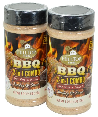 Hilltop Foods BBQ 2 In 1 Combo Dry Rub And Sauce 2 Pack