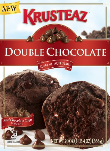 Krusteaz Chocolate Muffin Mix, Double Chocolate, 20-Ounce Boxes (Pack of 12)