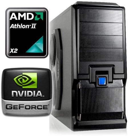Computerwerk - Game Aufrüst PC Melton (AMD Athlon II X2 250 2x 3.0Ghz / 4GB DDR3-1333 / 1024MB GeForce GT520 / Silent 500W Netzteil / AIRCRAFT Gametower) - Festplatte und Laufwerk dazu, fertig!