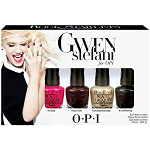 OPI Gwen Stefani Nail Polish, Rock Starlets Mini, 4 Count