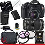 Canon EOS Rebel T3i 18 MP CMOS Digital SLR Camera w/ 18-55mm IS II & 55-250 IS II Lens Kit Package 2