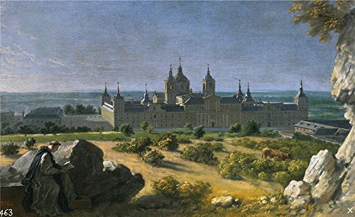 Oil Painting 'Houasse Michel Ange Vista Del Monasterio De El Escorial 1720 22 ' Printing On Polyster Canvas , 8 X 13 Inch / 20 X 33 Cm ,the Best Kids Room Gallery Art And Home Artwork And Gifts Is This Beautiful Art Decorative Canvas Prints