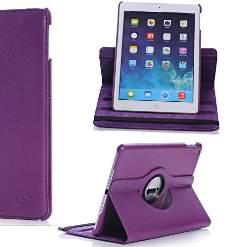 Sheath Ipad Air Multi Angle 360 Rotating Case Cover For New Ipad Air 5Th Generation With Ratina Display (360 Rotating, Purple)