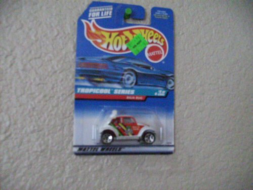 Hot Wheels Baja Bug #694 1998 Tropicool Series Same Size Wheels Blue/white Card
