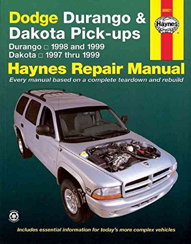dodge-durango-and-dakota-pick-ups-1997-1999-automotive-repair-manual-by-jeff-kibler-published-januar