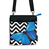 Harold Feinstein Bold Blue Butterfly Cross Body Bag