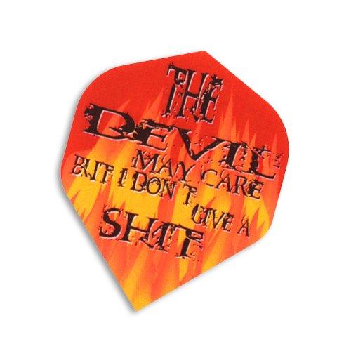 F5015 Devil May Care Dart Flights 5 Sets pro Pack (15 Flights insgesamt).