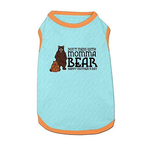 [Don't Mess With Momma Bear Pet Shirt For Pet] (Grandma Moses Costume)