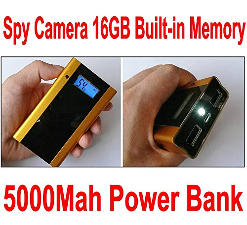 5000Mah Mobile Power Style Built-In 16Gb Hidden Camera Hd 1280*720P Power Bank Motion Detection Video Camera Mini Dvr Camcorder Golden