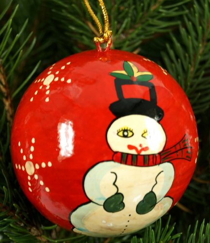 Handbemalte Weihnachtskugel aus
