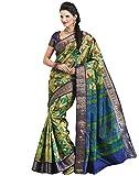 Roopkala Silks & Sarees Raw Silk Zari Saree (Bp-120 _Green)