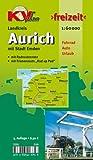 Aurich Landkreis mit Stadt Emden 1 : 60 000: Freizeitkarte mit beschilderten Radroutennetz und touristischen Radrouten der Region Picture