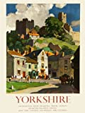 TRAVEL TOURISM RICHMOND YORKSHIRE UK CASTLE GREEN MARKET SQUARE 30X40 CMS FINE ART PRINT ART POSTER BB9938