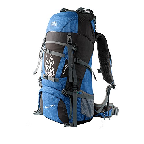 Sac d'escalade en plein air / sac à dos / sac à bandoulière en plein air de grande capacité-bleu 50L