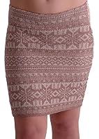 EyeCatchClothing - Womens Aztec Cozy Warm Sweater Knit Stretch Skirt One Size