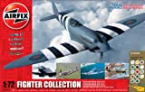 Airfix A50065 1:72 Scale WWII Aircraft Battle of Britain Memorial Flight Five Fighter Collection Model Gift Set with Paints, Glue and Brushes