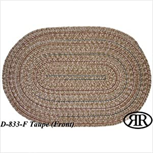 Click to buy Cabin Rugs: Duet Taupe Braided Rug from Amazon!