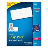 Avery Easy Peel Address Labels for Laser Printers, 1 x 2.625 Inches, White, Pack of 750 (05260)