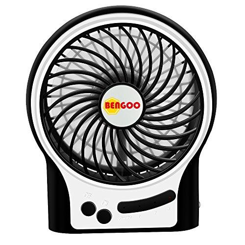 Fan Bengoo Portable Fan USB Mini Desktop Desk Table Electric Rechargeable Fan for laptop room office outdoor travel (Usb Desk Top Fan compare prices)