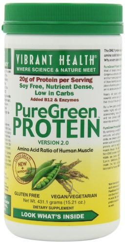 Vibrant Health Puregreen Protein, Natural, 15.21 Ounces