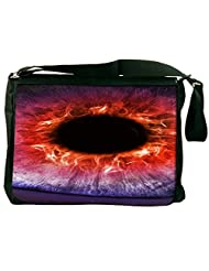 Snoogg The Eye Of The Storm Computer Padded Compartment Carrying Case Laptop Notebook Shoulder Messenger Bag