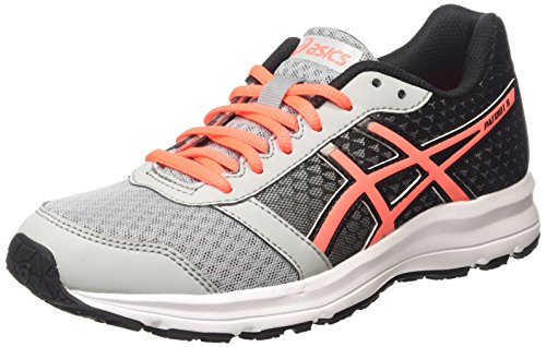 ASICS Patriot 8 - Scarpe Running Donna, Grigio (silver Grey/flash Coral/black 9606), 39 EU