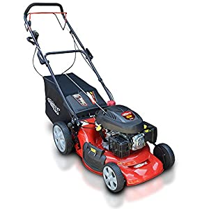 "Frisky Fox PLUS 20"" 5.5hp Self Propelled Petrol Lawn Mower with Grass Collection Bag"