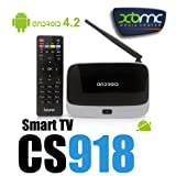 OnceAll CS918 Android 4.2 Quad Core RK3188 HDMI Smart TV Box with 2GB DDR3/8GB ROM/Wi-Fi - Black & White