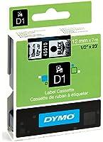 Dymo D1 Étiquettes Standard 12 mm x 7 m - Noir sur Transparent