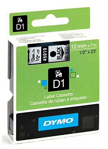 dymo-d1-standard-self-adhesive-labels-for-labelmanager-printers-12-mm-x-7-m-black-print-on-clear