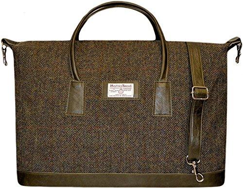 Harris-Tweed-Real-Leather-Luggage-Overnight-Bag