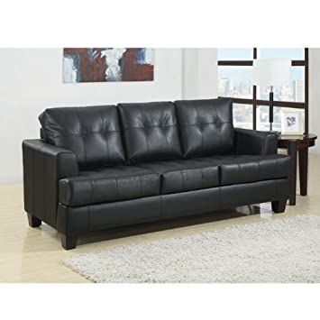 Samuel Contemporary Leather Sleeper Sofa