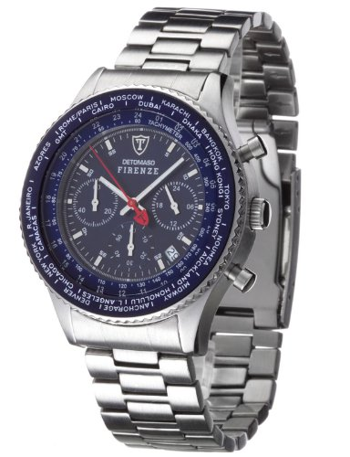 Detomaso Firenze Men's Chronograph Watch SM1624C-BL with Blue Dial