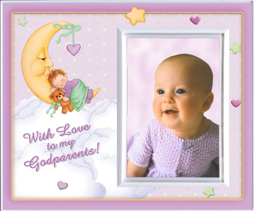 With Love to My Godparents (Girl) Picture Frame Gift - 1