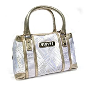 Versace Gold & White Handbag