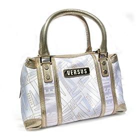 Versace Gold & White Handbag