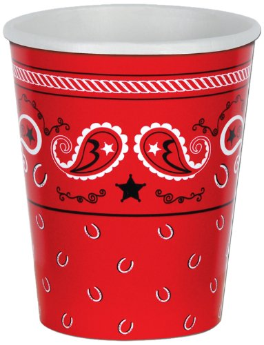 Beistle Bandana Cup, 9 oz. Cups, 8 Count