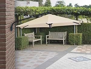 mq sonnenschirm ampelschirm gartenschirm wandschirm sonnenschutz mauer schirm 270cm. Black Bedroom Furniture Sets. Home Design Ideas
