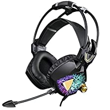 buy Sades Newest Model Sa913 Pro Pc Gaming Usb Over The Ear Stereo Surround Sound Headset With Microphone Vibration Volume Controller Multi-Color Led Light For Pc Gamers(Black)