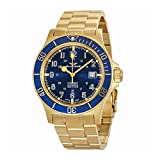 Glycine Combat Sub Automatic Blue Dial Yellow Gold-tone Mens Watch GL0082