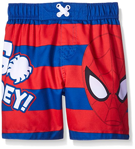Marvel Boys' Spiderman Toddler Swim Trunk, Red/Blue, 2T (Marvel Trunk compare prices)