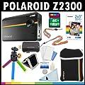 Polaroid Z2300, appareil photo num�rique de 10 MP � impression instantan�e (noir) avec une carte de 8 Go + sacoche + tr�pied + papier Zink (30 feuilles) + sangles + kit d'accessoires