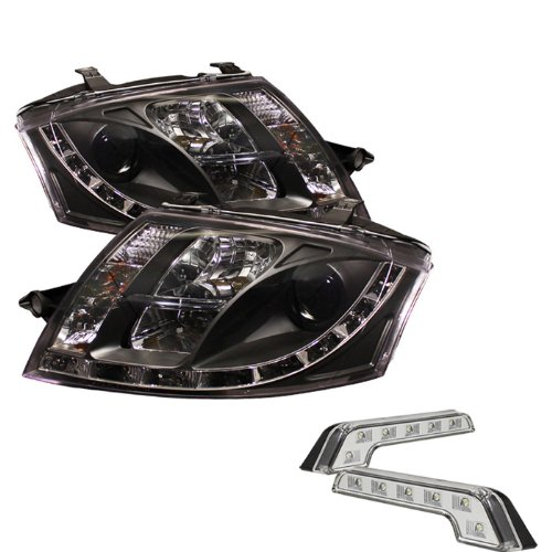 For 05-07 Ford Super Duty Mystery Black Smoked Halo DRL LED Projector Headlights