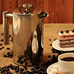 Secura Stainless Steel French Press Coffee Maker 18/10 Bonus Stainless Steel Screen by Secura