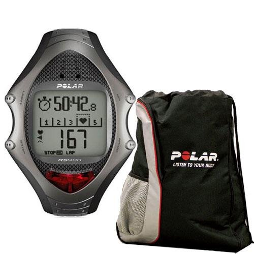 Cheap Polar RS-400 Heart Rate Monitor with FREE Polar Cinch Bag (RS-400Kit)